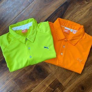 Bundle 2 *Puma* bright wicking golf polo shirts XL
